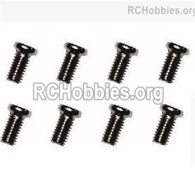 Subotech BG1525 Machine Screws Parts. WLS016.. With a size of M3X6. Total 8pcs.